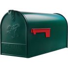 Gibraltar Elite T2 Large Green Steel Rural Post Mount Mailbox Image 2