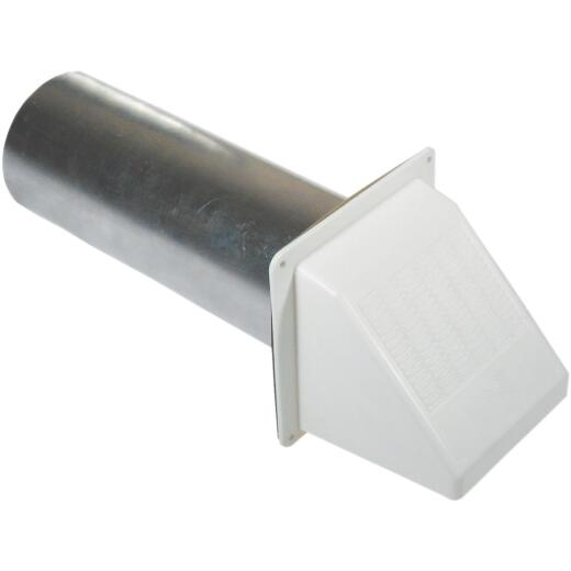 Builder's Best 4 In. White Plastic Wide Mouth Dryer Vent Hood