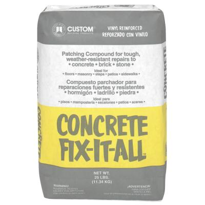 Concrete Fix-It-All 25 Lb Fast-Setting, Nonshrinking Gray Concrete Patch