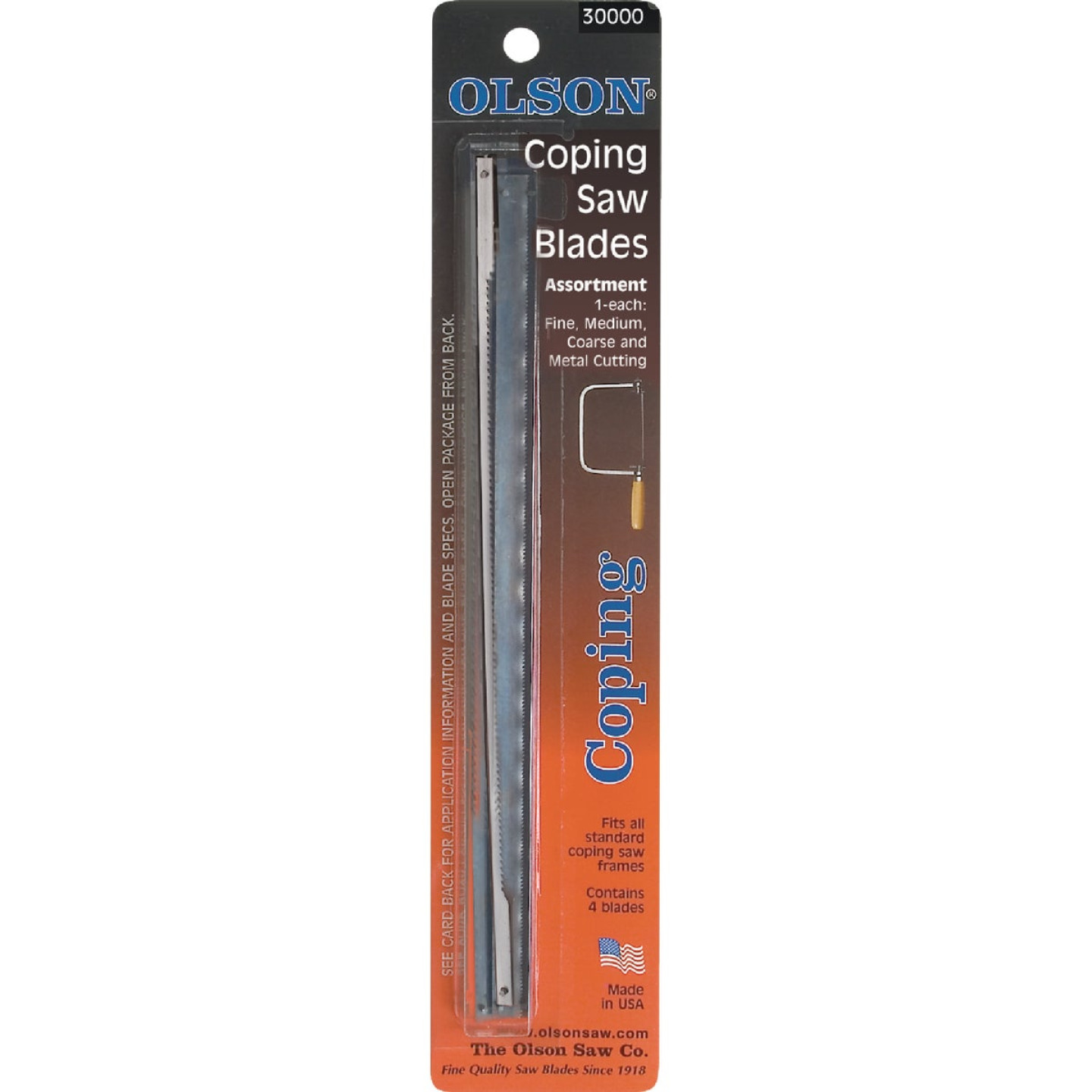 Olson 6-1/2 In. Coping Saw Blade Assortment (4-Pack) Image 1