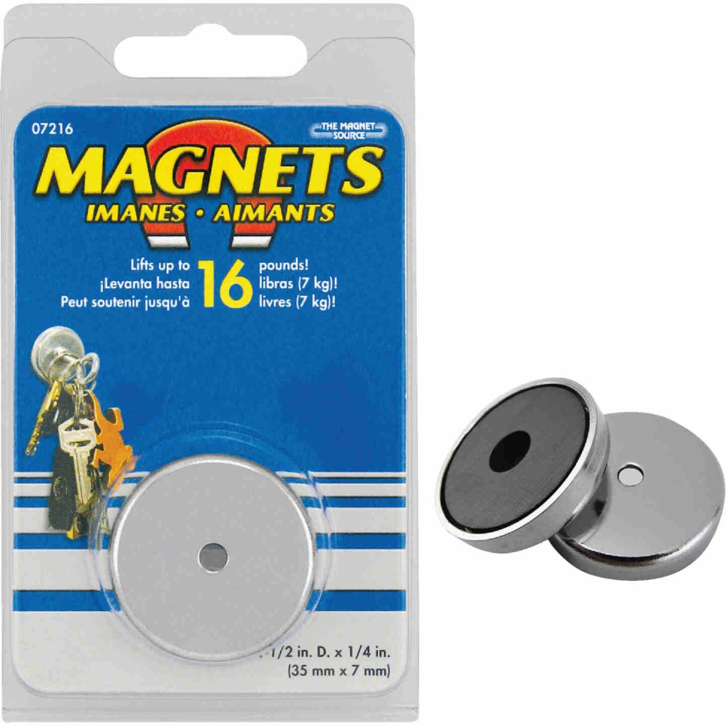 Master Magnetics 1-3/8 in. 15 Lb. Magnetic Base Image 1