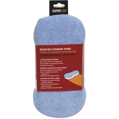 Trimaco SuperTuff 4 In. W x 8-1/2 In. L 2-Sided Microfiber Car Wash Sponge