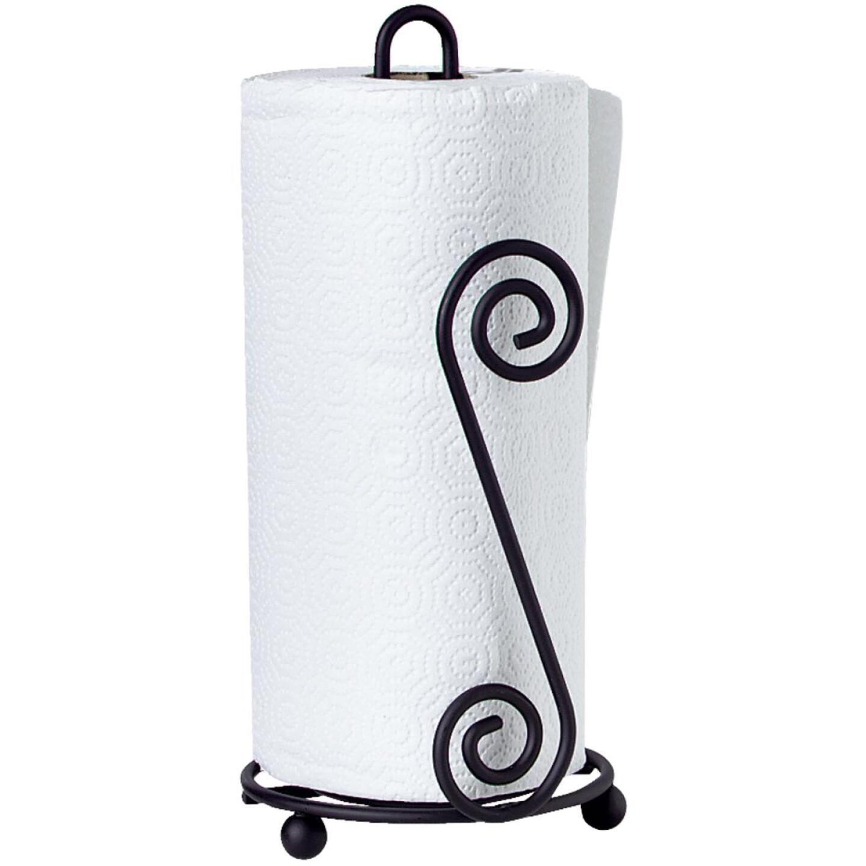 Spectrum Elegant Scroll Countertop Portable Paper Towel Holder Image 2