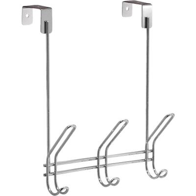 InterDesign Classico Over-The-Door Chrome 3-Hook Rail