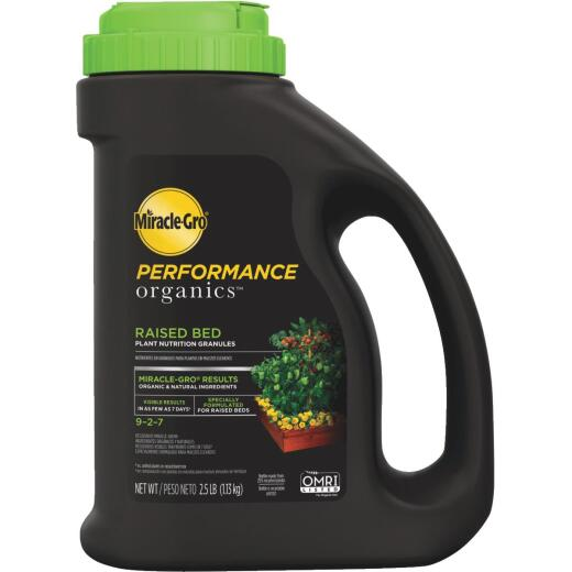 Miracle-Gro Performance Organics 2.5 Lb. 9-2-7 Plant Food for Raised Beds