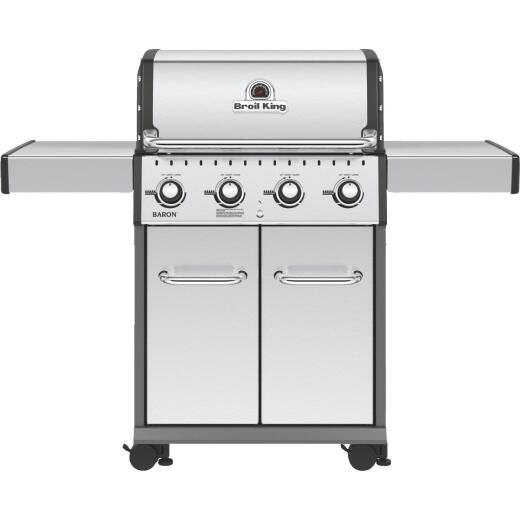 Broil King Baron S420 Pro Special Edition 4-Burner Stainless Steel 40,000 BTU LP Gas Grill