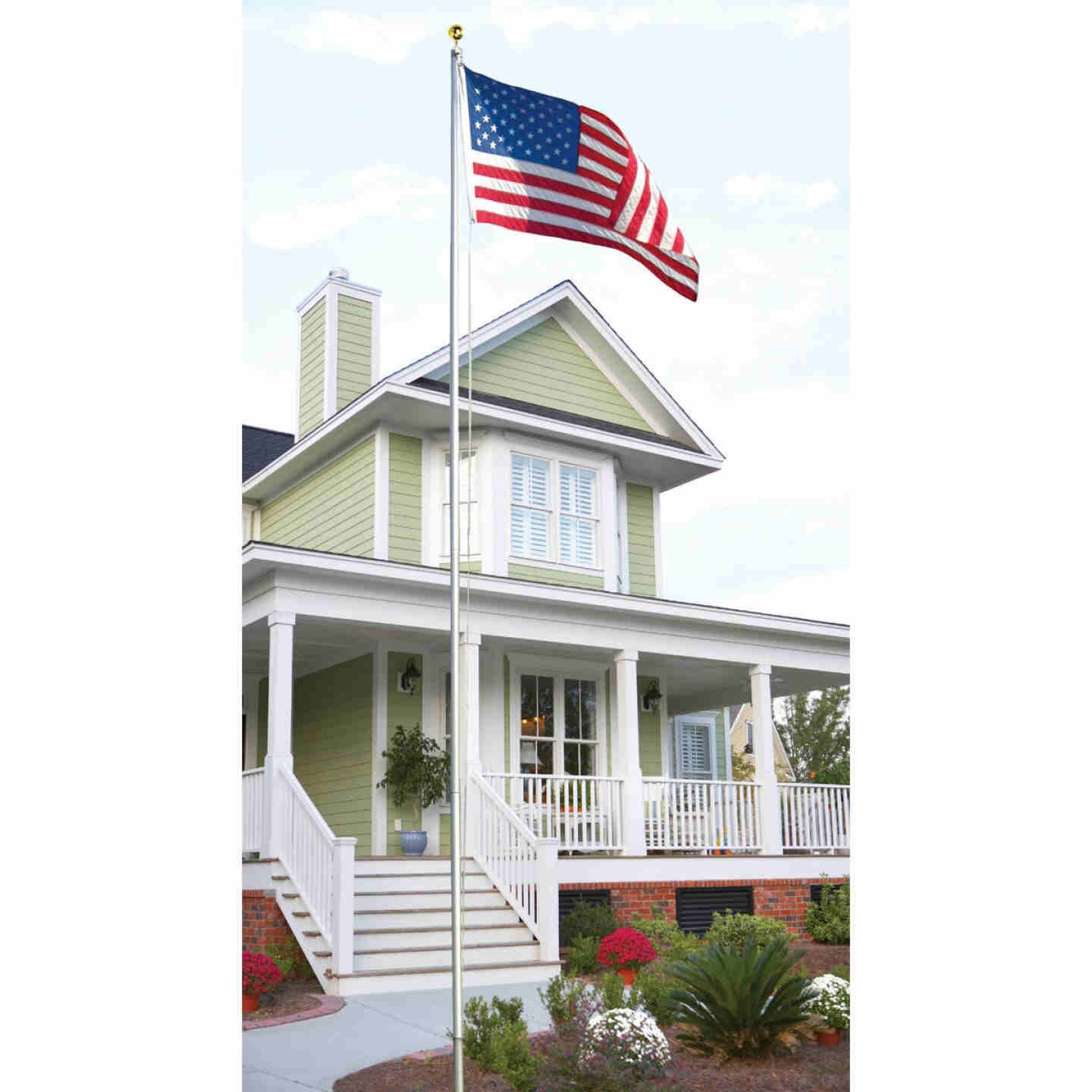 Valley Forge 3 Ft. x 5 Ft. Nylon American Flag & 20 Ft. Pole Kit Image 2