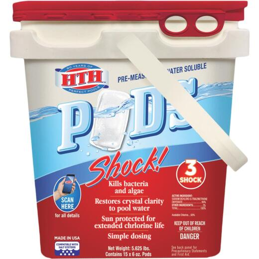 HTH 6 Oz. Water Soluble Pods Pool Shock
