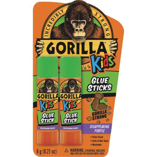 Gorilla 0.21 Oz. Clear Drying Glue Stick (2-Pack)